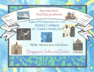Appreciation Award - Explorer Of The Seven Seas Cruise